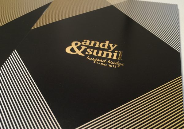 Andy & Sunil | Winter Wedding Website